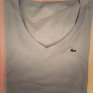 Lacoste long sleeve shirt baby blue